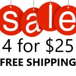 Lowball Offers Welcome! 4 for $25 & FREE SHIPPING